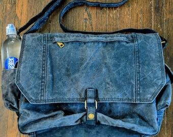 Waxed Canvas Messenger Bag, Messenger Bag, Laptop Bag, Shoulder Bag, Crossbody Bag,  Cross Body Bag, Waxed Canvas Laptop Bag, Book Bag