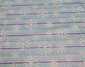 Snowflake Stripe Cotton Fabric from Michael Miller
