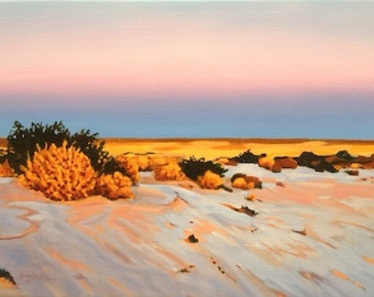Salz auf Sand Lake Ayre Australien