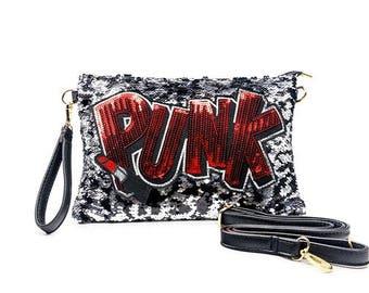 Punk Sequin Clutch Bag
