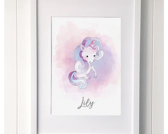 Unicorn 'lily' print