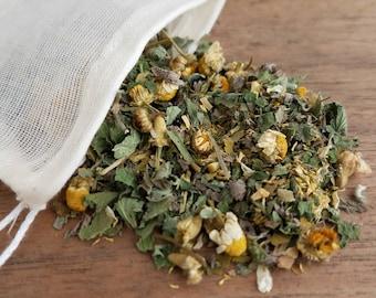 Organic Sleepy Tea, Loose Leaf Herb Tea Blend, Insomnia Tea, Calming Herb Blend, Bedtime Herbal Tea, Sleep Herb, Organic Dried Herbs