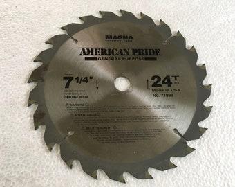 Magna 7 1/4 inch 24 tooth circular saw blade