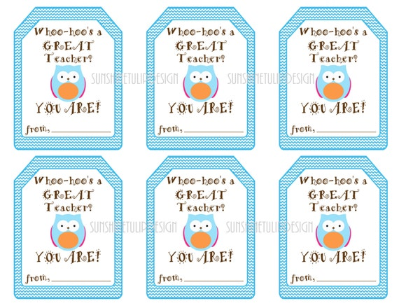 Impeccable image inside teacher appreciation printable tags