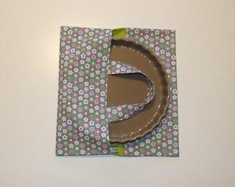 Bag pie, quiche, cake flowers print fabric