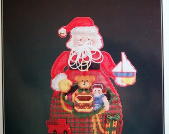 Jolly St. Nick Perforated Paper Tree Topper Book 73 By Astor Place Cross Stitch Perforated Paper Pattern Page Undated