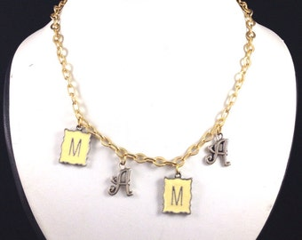 MAMA Necklace with Antique Gold Chain