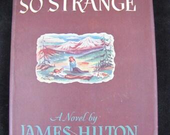 Nothing so Strange // 1947  Hardback Vintage Novel // Romance Novel Set in WW II