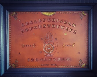 Leather Ouija Spirit Board, Handcrafted and One of a Kind!