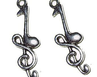 6 pieces Music Melody Alloy Charm Pendant A0116