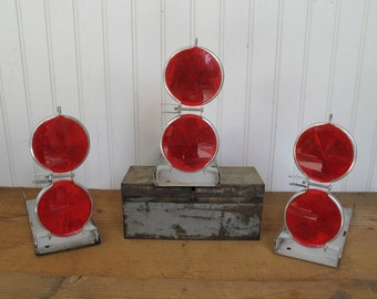 Vintage Red Reflector Road Flares - Stratolite #38