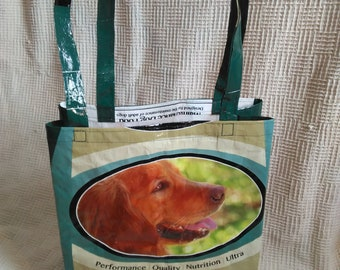 Dog, feed sack, tote, bag