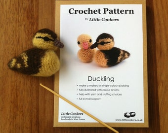 Crochet Duckling Pattern / Easter Gift for Crocheter / Crochet Pattern Gift / Printed Paper Pattern / Craft Gift / Crochet Chick Spring