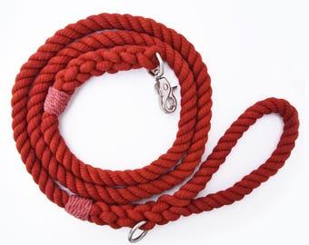 Burnt Orange Rope Dog Leash