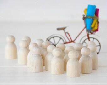 30 Wooden Babies - Wood Peg Dolls - Unfinished Wooden People - Baby wooden peg doll - Set of 30 wooden Babies - DIY Crafts