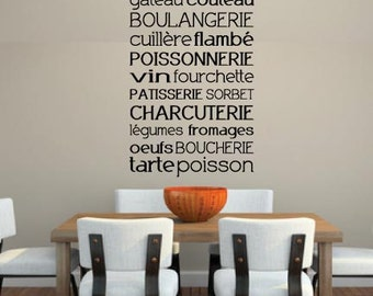 French Culinary Decal - Removable Vinyl Decal - Great for Kitchens or Restaurants