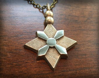 Overwatch Mei Hairpin Snowflake Stainless Steel 3D Printed Pendant and Keychain
