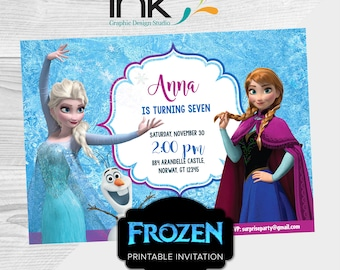 Frozen invitation etsy frozen invitation birthday invitation instant download edit yourself editable frozen solutioingenieria Image collections
