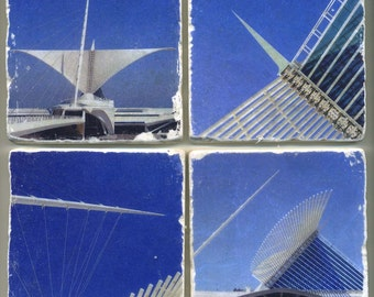 Milwaukee Art Museum Collection - 4 original coasters