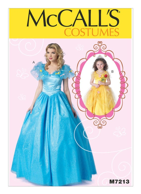 7213, McCalls, Cinderella, Beauty and the Beast, Belle, Disney ...