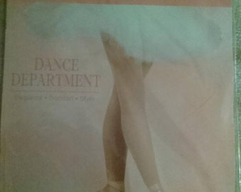on sale Dance Department LT Suntan Footed Tights Style T100 Size M