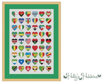 Flags of Africa Cross Stitch Chart