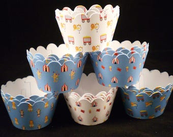 SALE Circus Cupcake Wrappers (15)