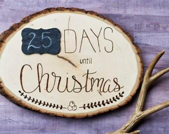 Countdown to Christmas Wood Decor Sign