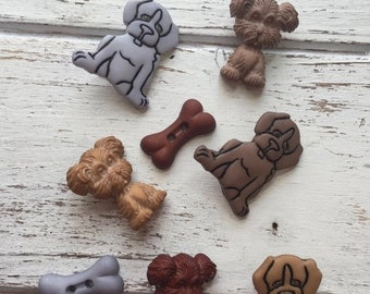 """SALE Puppy Dogs and Bone Buttons, Packaged Novelty Buttons """"Puppy Love"""" #4431 by Buttons Galore, Sewing, Crafting, Embellishments"""