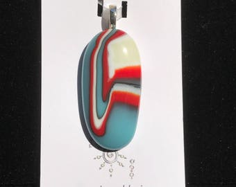 Southwest Canyon by Mystic Soul Designs - fused glass pendant