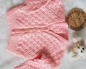 Hand knitted cardigan size 1-2