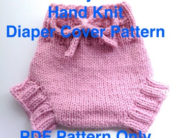 Someday Sarah Diaper Cover PDF Pattern - Hand Knit Soaker Pattern - Sized Newborn to Age 2+