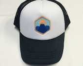 "Toddler/Kids Trucker Hat- with ""Three Mountains&qu..."