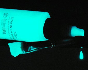 Aqua (Blue/Green) Glow in the Dark Paint 1, 2, 4, 8 oz