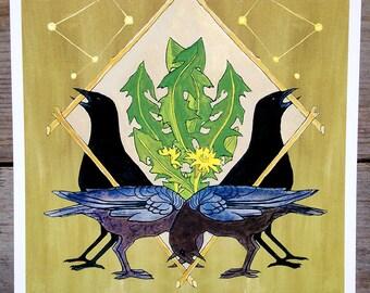 Crow Shield Print