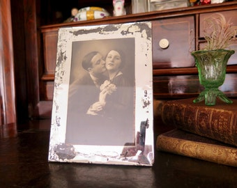 Antique Mirrored Photo Frame, Shabby Chic French Photo Frame, Art Deco Photo Frame