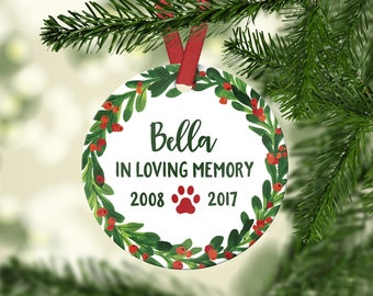 Pet Loss Gifts Pet Memorial Ornament Dog Loss Gift Dog Memorial Ornament Pet Loss Christmas Ornament Pet Memorial Christmas Ornament Green