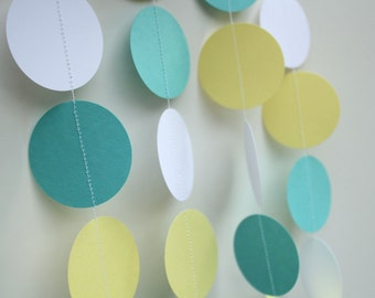 Baby Shower Decoration-  Paper Garland / 5 ft. Long /Baby Boy Shower Decoration, Gender Neutral Shower