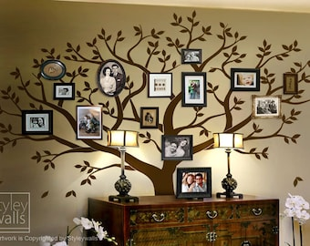 Frame Tree Wall Decal, Family Tree Wall Decal, Photo Frame Tree Wall Decal  Sticker