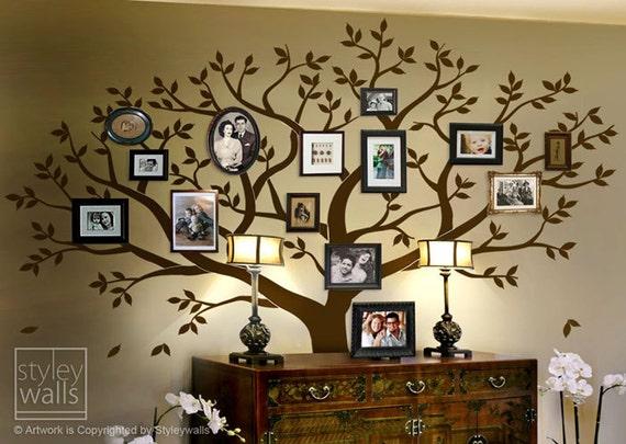 Family Tree Wall decal Tree Wall Decal Photo Frame Tree Wall