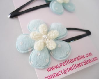 Very soft flower Hair clips barrettes - Choose your color