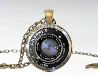 Camera pendant etsy vintage camera pendant bronze camera lens necklace wedding photographer gift vintage camera lens pendant aloadofball Gallery
