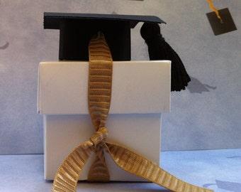 graduation favor, graduation favor box. Set of 6