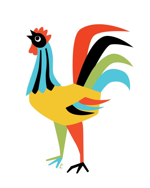 Küche Kunst Huhn Decor Kunstdruck Rooster Rooster Wand Kunst