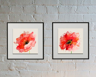 Wild Watercolor Poppies: DIGITAL DOWNLOAD,