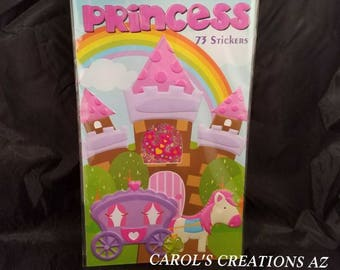 Stickers princesse / 73 Stickers princesse neuf dans emballage / enfant Stickers / Autocollants fille