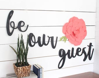 Be Our Guest* Be Our Guest Decor* Beauty and the Beast* Guest Room* Guest Room Ideas* guest room decor