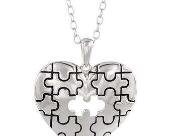 Sterling Silver A Piece of My Heart Necklace