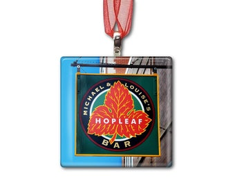 Hopleaf in Andersonville - Handmade Glass Photo Ornament