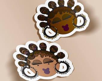Bantu Knots Stickers (Quantity 2)